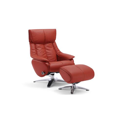 Red Chair with Ottoman