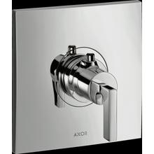 Chrome Thermostatic Trim HighFlow with Lever Handle