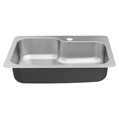 American Standard - Hillsdale 33 X 22-Inch Stainless Steel Single-Bowl Drop-In or Under Mount Kitchen Sink  American Standard - Stainless Steel
