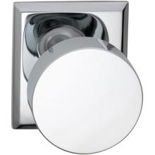 Product Image - Interior Modern Knob Latchset with Rectangular Rose in (US26 Polished Chrome Plated)