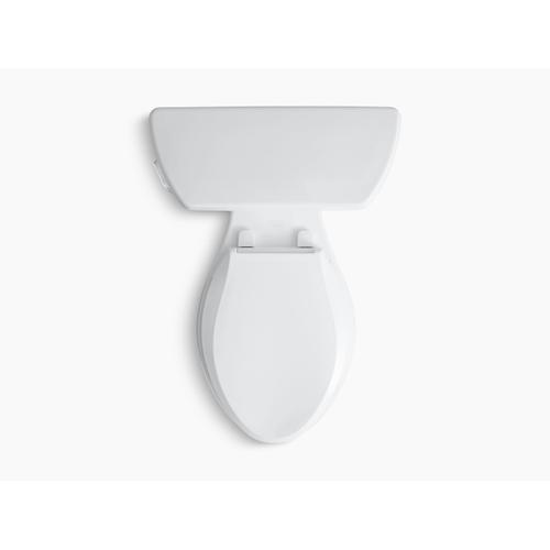 White Two-piece Elongated 1.28 Gpf Toilet