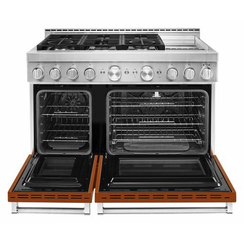 KitchenAid - KitchenAid® 48'' Smart Commercial-Style Gas Range with Griddle - Scorched Orange