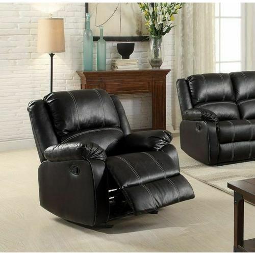 Acme Furniture Inc - Zuriel Black Rocker Recliner (52287)