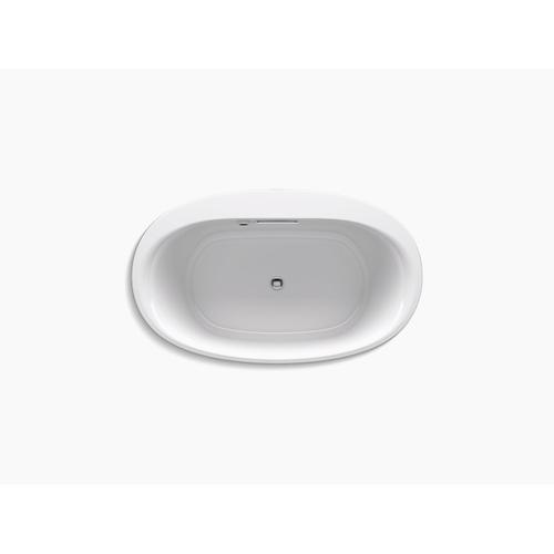 "White 60"" X 36"" Freestanding Bath With Bask Heated Surface"