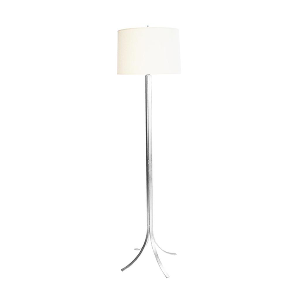So Chic and So Stately, the Dempsey Modern Floor Lamp Will Be A Staple In Your Style Archive. A Feather Light Foot Detail Flares From the Iron Base and A Hand Applied Silver Leaf Finish Completes the LOOK.