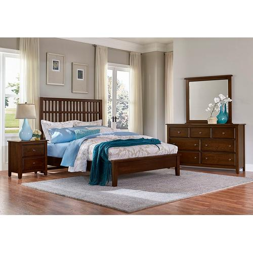 Craftsman Slat Bed with Low Profile Footboard