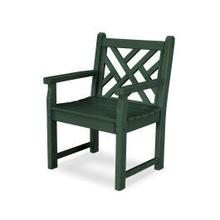 View Product - Chippendale Garden Arm Chair in Green