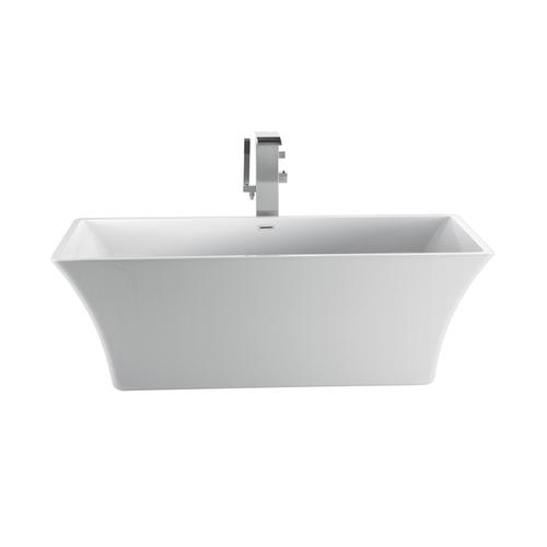"Tara 60"" Acrylic Tub with Integral Drain and Overflow - Polished Nickel Drain and Overflow"