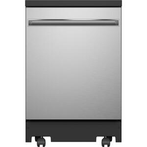 "GE®24"" Stainless Steel Interior Portable Dishwasher with Sanitize Cycle"