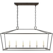 View Product - E. F. Chapman Darlana 6 Light 54 inch Aged Iron Linear Pendant Ceiling Light