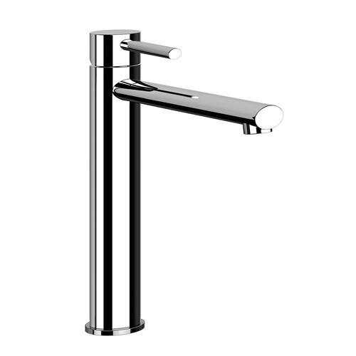 """Gessi - Tall single lever washbasin mixer with pop-up assembly Extended spout projection 8-5/16"""" Height 11-11/16"""" 1-1/4"""" D"""