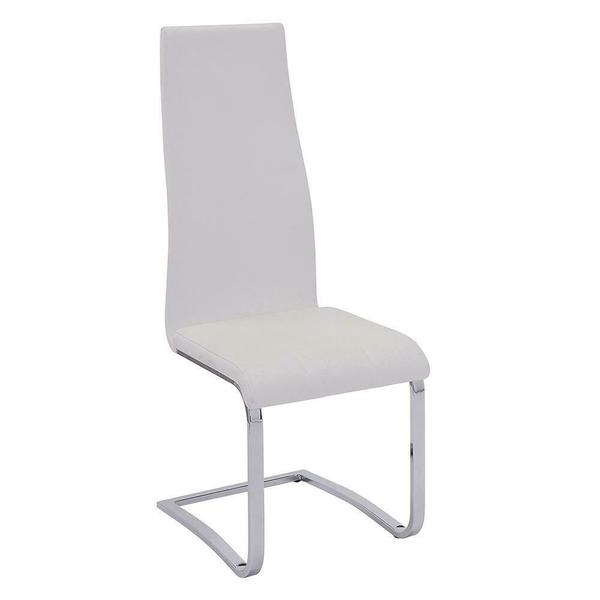 See Details - Contemporary White and Chrome Dining Chair