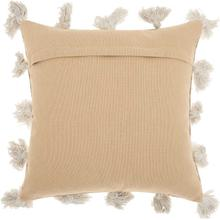 "Life Styles Dp005 Beige 18"" X 18"" Throw Pillow"