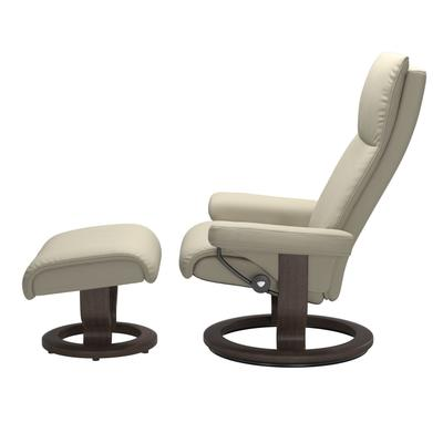 See Details - Stressless® Aura (L) Classic chair with footstool