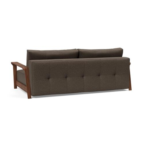 DELUXE EXCESS LOUNGER SEAT/DELUXE EXCESS LOUNGER BACK/EXCESS 01 METAL FRAME, MAT BLACK/RAN WALNUT ARM RESTS, DARK WOOD