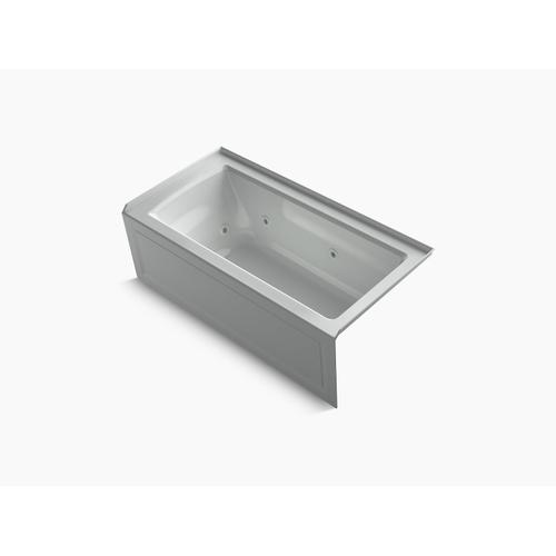 "Ice Grey 60"" X 30"" Three-side Integral Flange Whirlpool Bath With Right-hand Drain, Heater, and Comfort Depth Design"