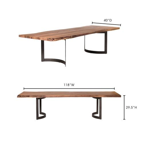 Moe's Home Collection - Bent Dining Table Large Smoked