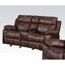 L. Brown Loveseat W/console