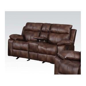 Acme Furniture Inc - L. Brown Loveseat W/console