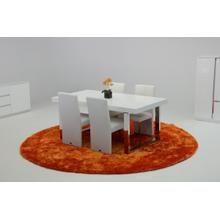 View Product - A&X Skyline White Crocodile Extendable Dining Table