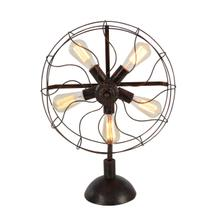 "MTL FAN ACCENT LT W BULB 18""W, 24""H"