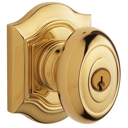 Baldwin - Lifetime Polished Brass 5237 Bethpage Knob