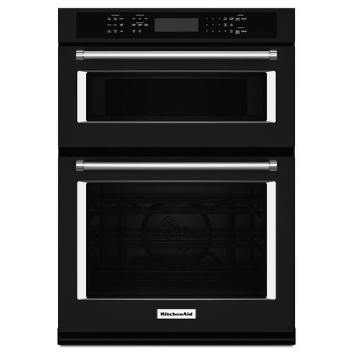 """KitchenAid - 27"""" Combination Wall Oven with Even-Heat™ True Convection (lower oven) Black"""