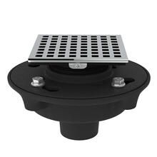 See Details - Cast Iron 2 Inch No Hub Drain Kit with 3143 Matrix Decorative Cover - Polished Chrome