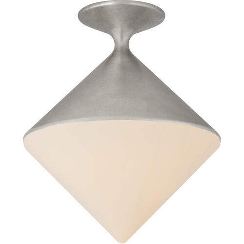 AERIN Sarnen LED 14 inch Burnished Silver Leaf Flush Mount Ceiling Light, Small