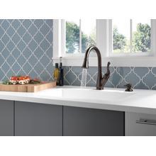 Venetian Bronze Single Handle Pull-Down Kitchen Faucet with Soap Dispenser