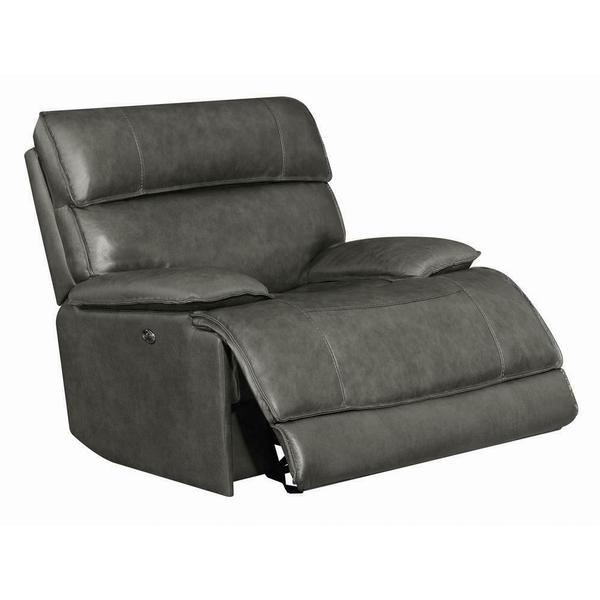 See Details - Standford Casual Charcoal Power Glider Recliner