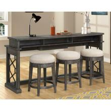SUNDANCE - SMOKEY GREY Everywhere Console with 3 Stools