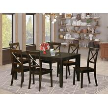 7 PC formal Dining room set-Dining Table with Leaf 6 Chairs for Dining room