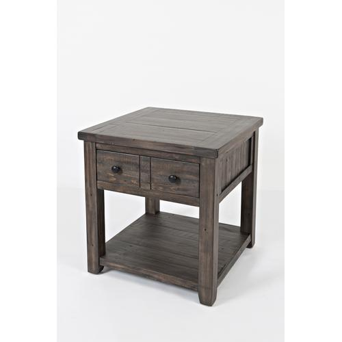 Madison County End Table - Barnwood