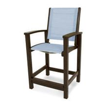 View Product - Coastal Counter Chair in Mahogany / Poolside Sling
