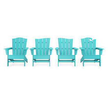View Product - Wave Collection 4-Piece Adirondack Chair Set in Aruba
