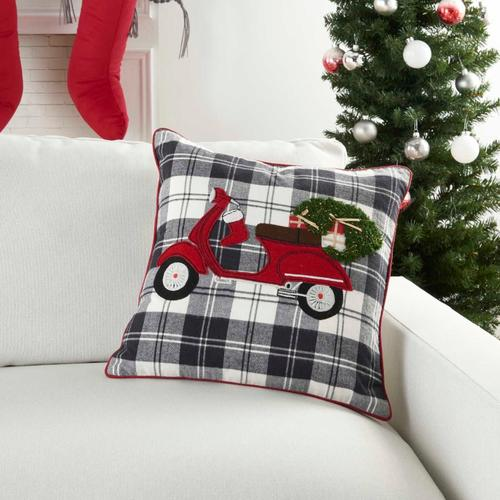 """Holiday Pillows Cr477 Multicolor 18"""" X 18"""" Throw Pillow"""