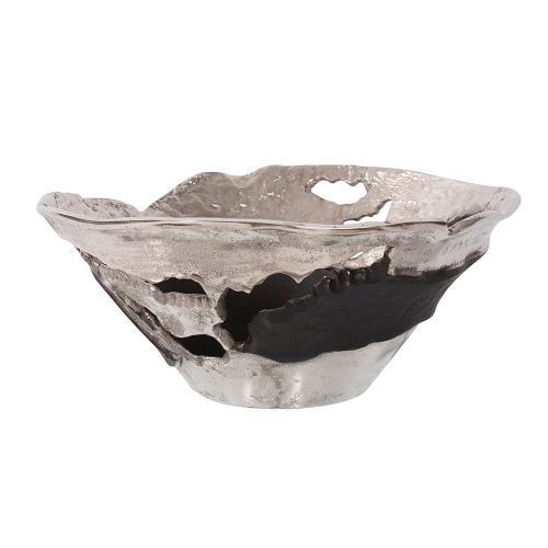 Howard Elliott - Contemporary Nickel and Black Bowl, Small