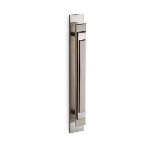 High Polished Platinum Nouveau Bar Pull - Large