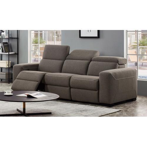 VIG Furniture - Divani Casa Raywick Modern Brown Fabric Sofa w/ 2 Recliners