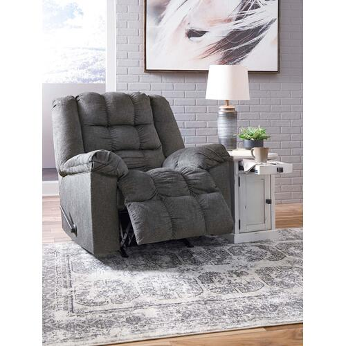 Signature Design By Ashley - Manual Rocker Recliner with Heat and Massage