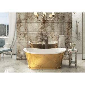 Balthazar Bathtub with Gold Exterior