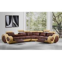 See Details - Divani Casa 4087 - Modern Bonded Leather Sectional Sofa