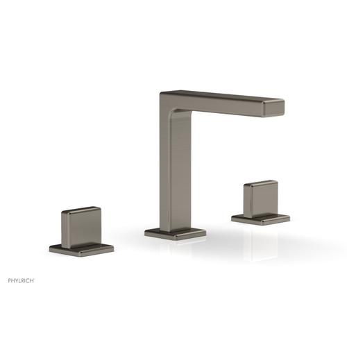 """MIX Widespread Faucet - Blade Handle 6-3/4"""" Height 290-01 - Pewter"""