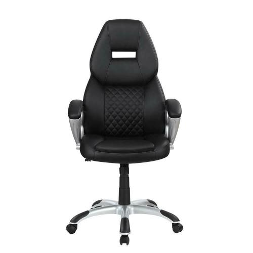 Coaster - Transitional Black High Back Office Chair