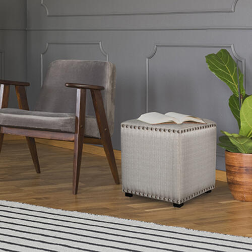 Product Image - Lani Vanity Stool - Linen Gray