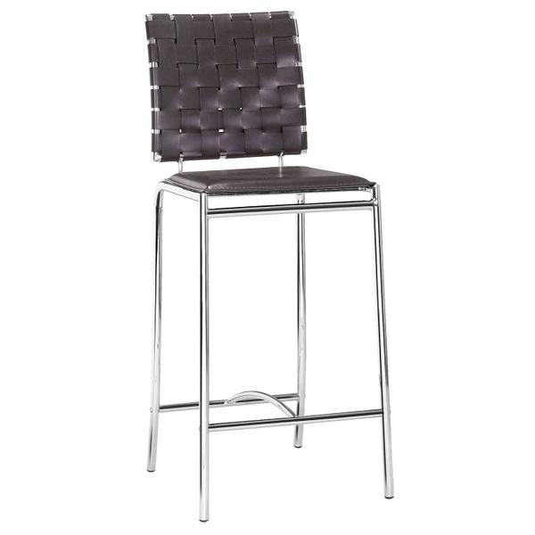 See Details - Criss Cross Counter Chair Espresso