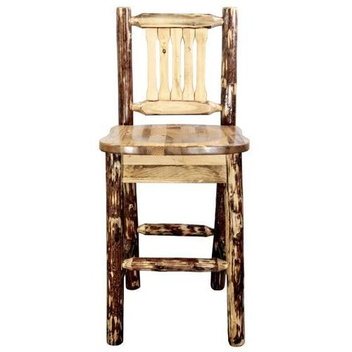 Montana Woodworks - Glacier Country Collection Barstool with Back