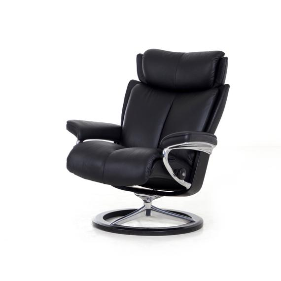 Stressless By Ekornes - Stressless Magic Small Signature Base Chair and Ottoman
