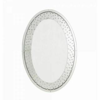 ACME Nysa Accent Mirror (Wall) - 97022 - Mirrored & Faux Crystals